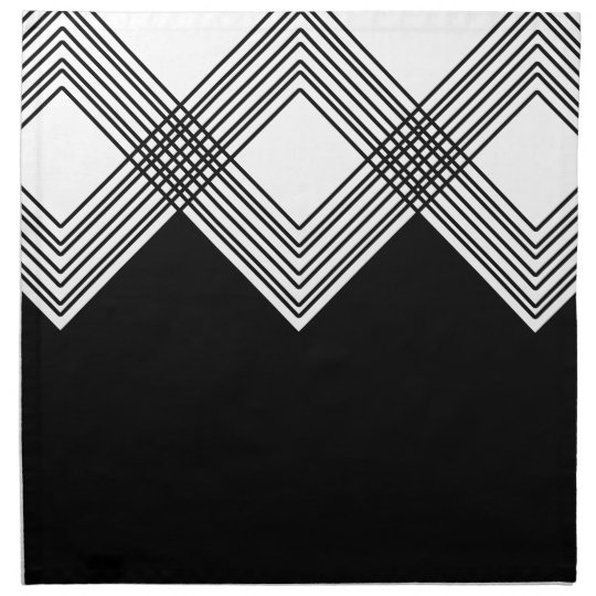 Abstract geometric pattern - black and white. napkin