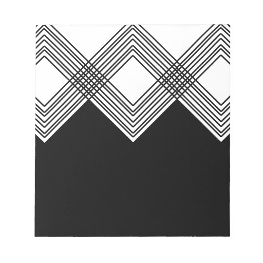 Abstract geometric pattern - black and white. notepad
