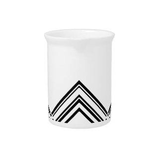 Abstract geometric pattern - black and white. pitcher