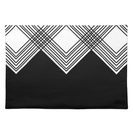 Abstract geometric pattern - black and white. placemat