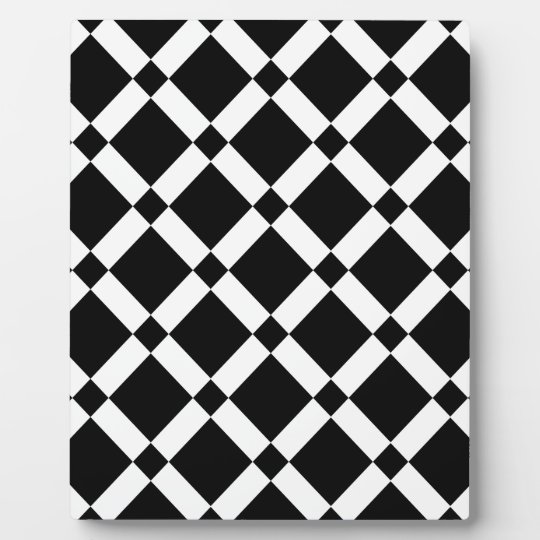 Abstract geometric pattern - black and white. plaque