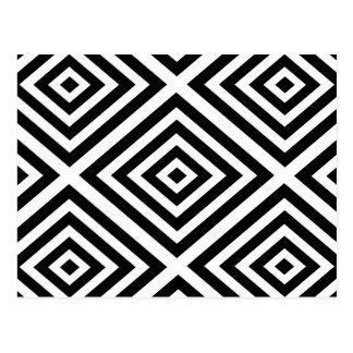Abstract geometric pattern - black and white. postcard