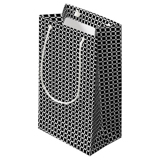 Abstract geometric pattern - black and white. small gift bag