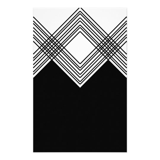 Abstract geometric pattern - black and white. stationery