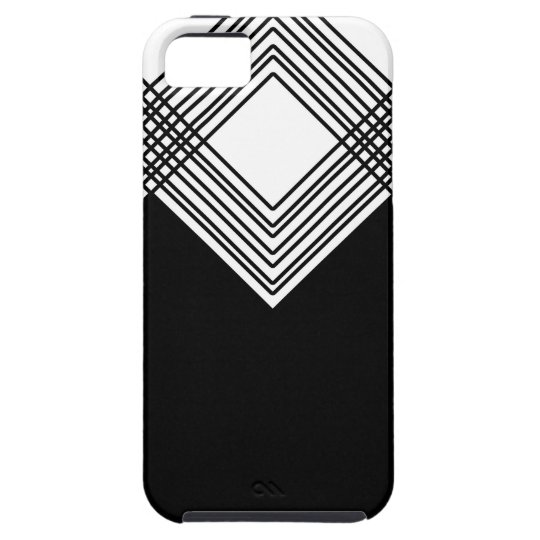 Abstract geometric pattern - black and white. tough iPhone 5 case