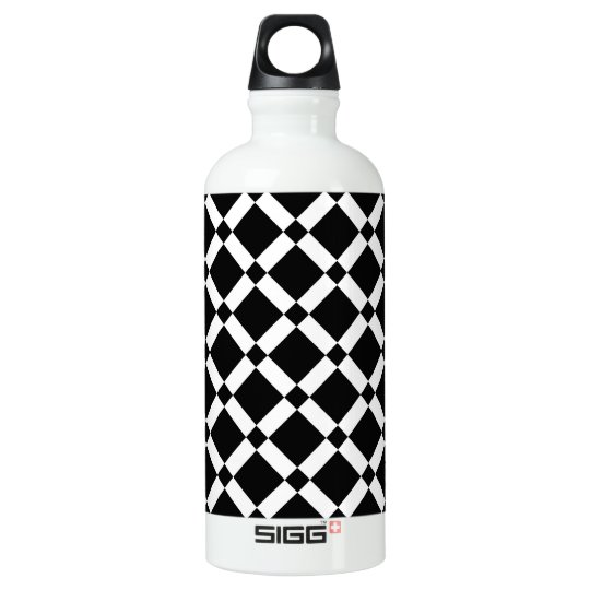 Abstract geometric pattern - black and white. water bottle