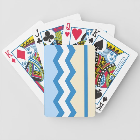 Abstract geometric pattern - blue and white. bicycle playing cards