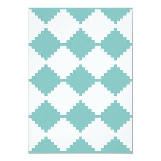Abstract geometric pattern - blue and white. card