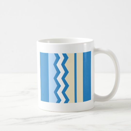 Abstract geometric pattern - blue and white. coffee mug