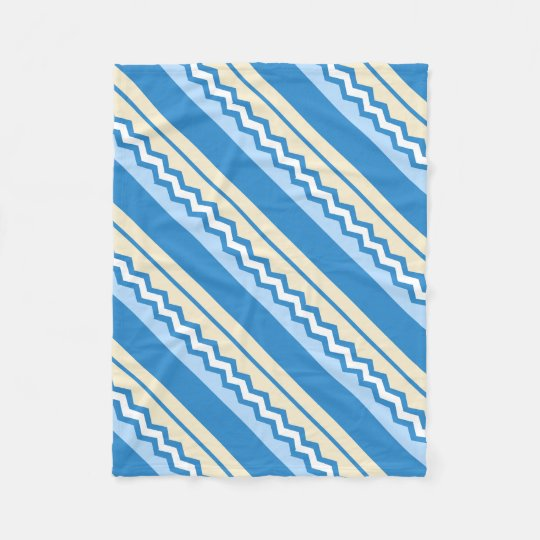 Abstract geometric pattern - blue and white. fleece blanket