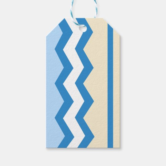 Abstract geometric pattern - blue and white. gift tags