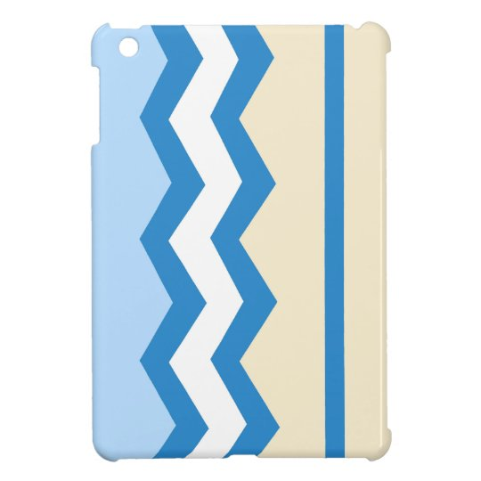 Abstract geometric pattern - blue and white. iPad mini covers
