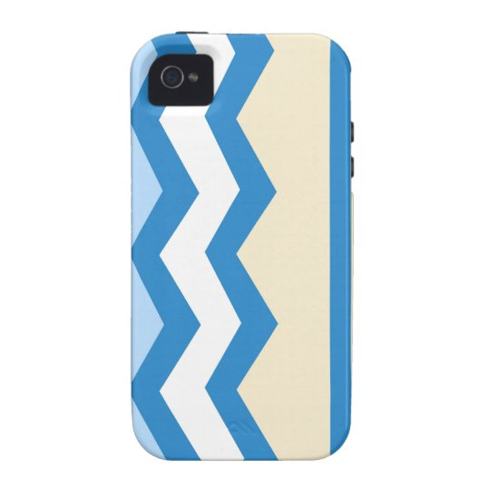 Abstract geometric pattern - blue and white. iPhone 4/4S cases