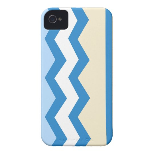 Abstract geometric pattern - blue and white. iPhone 4 Case-Mate cases