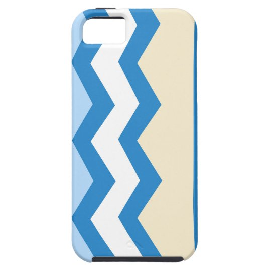 Abstract geometric pattern - blue and white. iPhone 5 covers