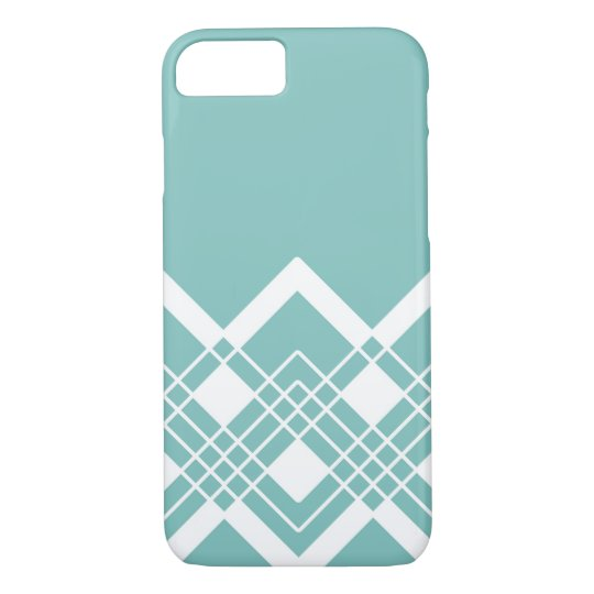 Abstract geometric pattern - blue and white. iPhone 8/7 case