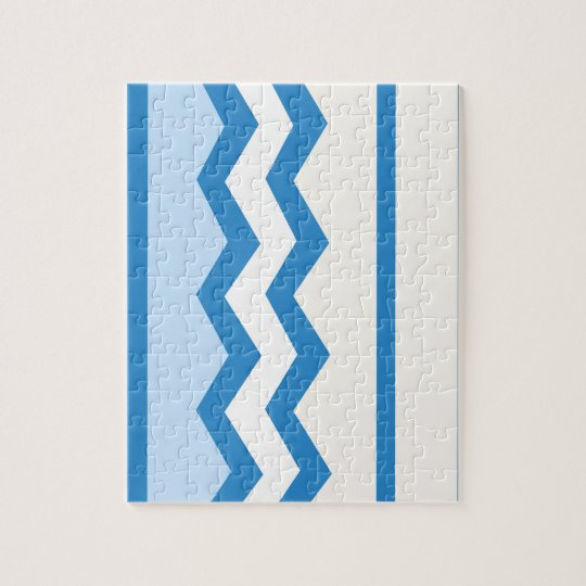 Abstract geometric pattern - blue and white. jigsaw puzzle