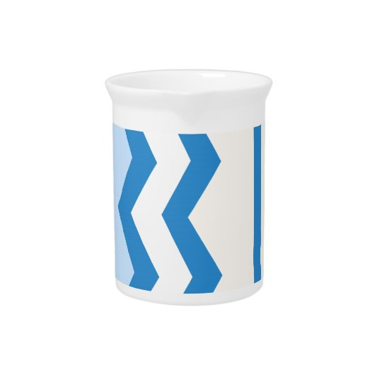 Abstract geometric pattern - blue and white. pitcher