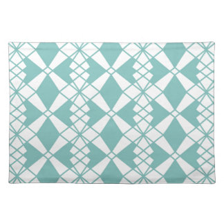 Abstract geometric pattern - blue and white. placemat