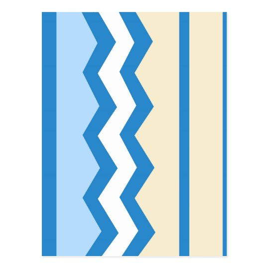 Abstract geometric pattern - blue and white. postcard