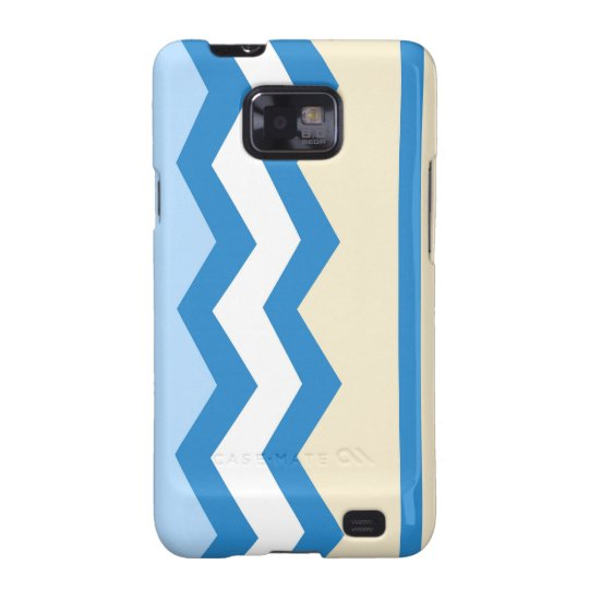 Abstract geometric pattern - blue and white. samsung galaxy SII covers