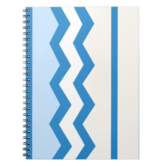Abstract geometric pattern - blue and white. spiral notebook