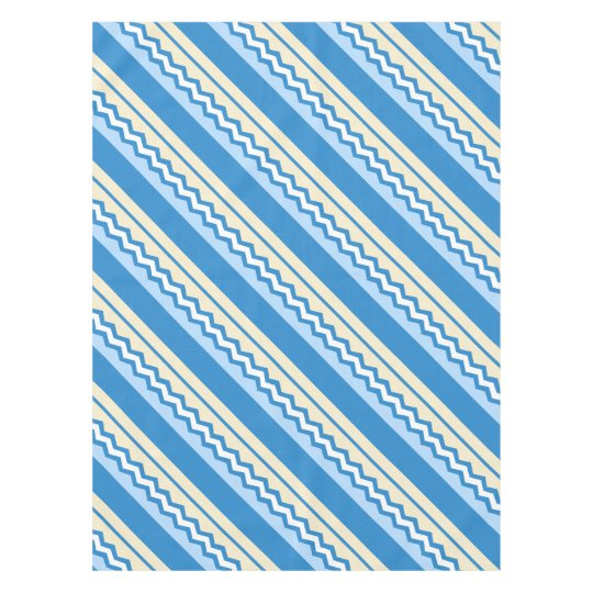 Abstract geometric pattern - blue and white. tablecloth