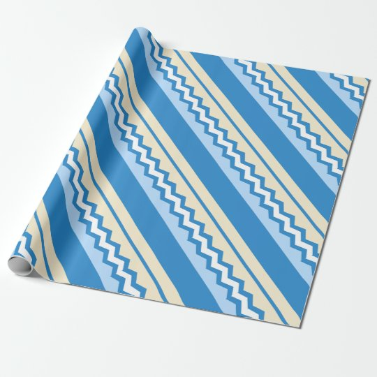 Abstract geometric pattern - blue and white. wrapping paper