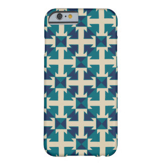 Abstract Geometric Pattern Blue Barely There iPhone 6 Case