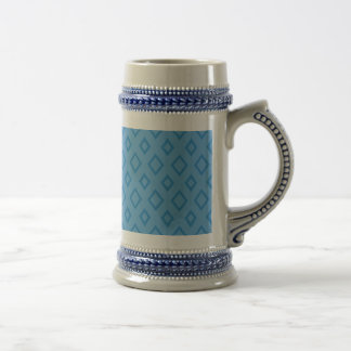 Abstract geometric pattern - blue. beer stein