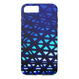 Abstract Geometric Pattern Blue Glow iPhone 7 Plus Case