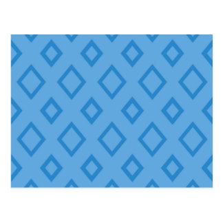 Abstract geometric pattern - blue. postcard