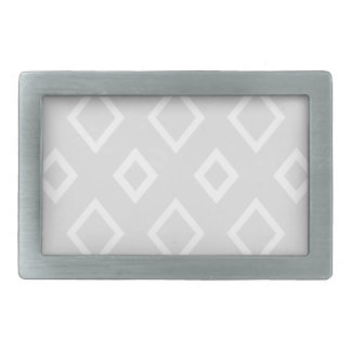 Abstract geometric pattern - gray and white. rectangular belt buckles