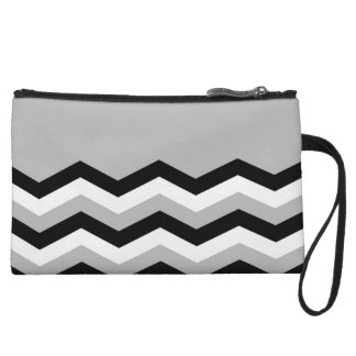 Abstract geometric pattern - gray,black and white. wristlet