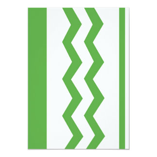 Abstract geometric pattern - green and white. card