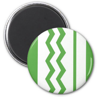 Abstract geometric pattern - green and white. magnet