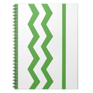 Abstract geometric pattern - green and white. notebook
