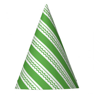 Abstract geometric pattern - green and white. party hat