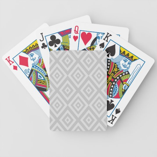 Abstract geometric pattern - grey. bicycle playing cards