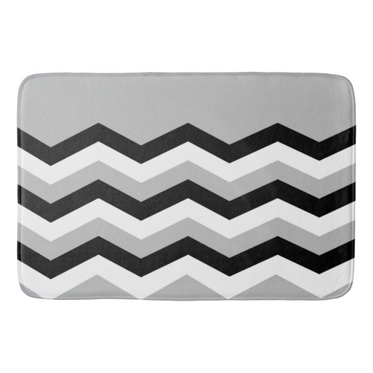 Abstract geometric pattern - grey,black and white. bath mat