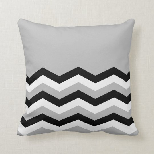 Abstract geometric pattern - grey,black and white. cushion