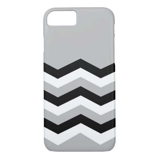 Abstract geometric pattern - grey,black and white. iPhone 8/7 case