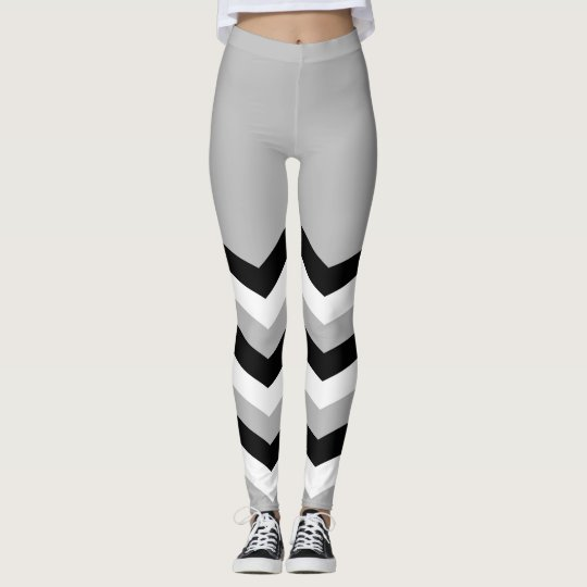 Abstract geometric pattern - grey,black and white. leggings