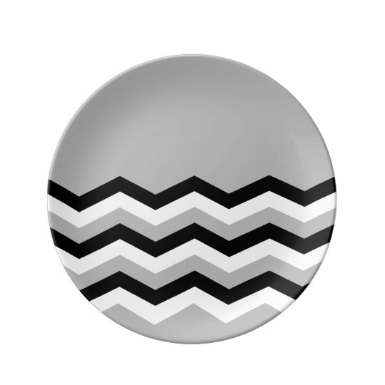 Abstract geometric pattern - grey,black and white. plate