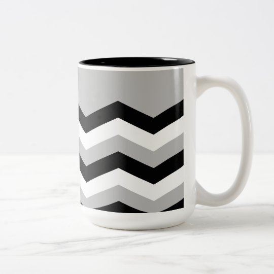 Abstract geometric pattern - grey,black and white. Two-Tone coffee mug