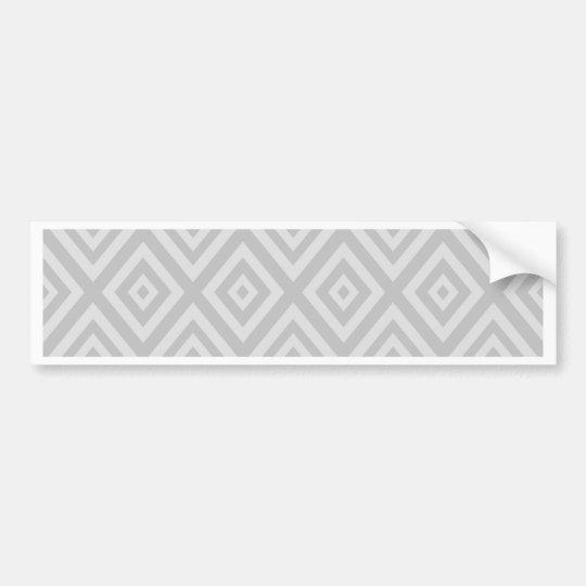 Abstract geometric pattern - grey. bumper sticker