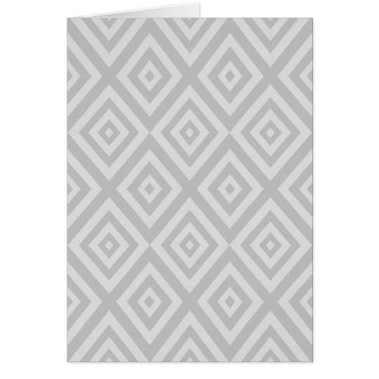 Abstract geometric pattern - grey. card