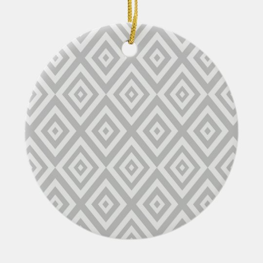Abstract geometric pattern - grey. ceramic ornament
