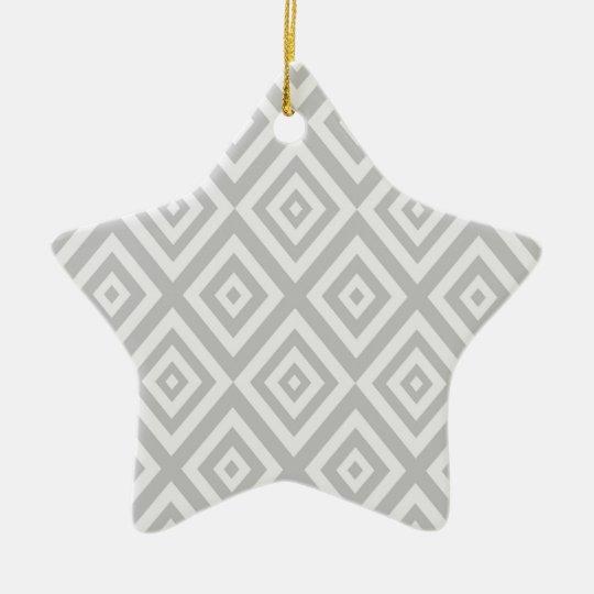 Abstract geometric pattern - grey. ceramic ornament