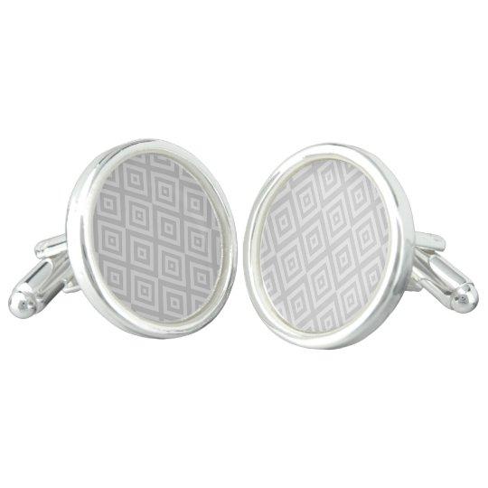 Abstract geometric pattern - grey. cufflinks